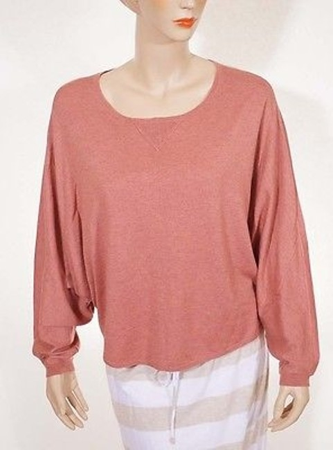 Joie Trip Womens Heather Pale Clay Wool Cashmere Dolman Sweater