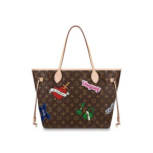 Louis Vuitton Neverfull Neverfull Patches Patches 2018 Tote in Monogram
