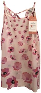 CAbi Top Pink/Floating Poppies