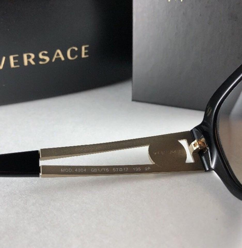 ca33f39a1be6 Versace New Mod.4304 Gb1/T5 Gold & Black Frame Polarized Brown 57-17 ...