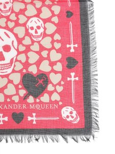 Alexander McQueen Hearts and Skull shawl scarf