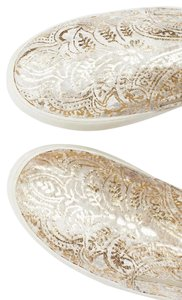 Free People Sneakers Sneakers Flower Sneakers Anthropologie Kate Spade Sneakers Metallic Gold and Ivory Floral Flats