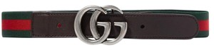 Gucci Gucci kids Size L striped canvas and leather belt