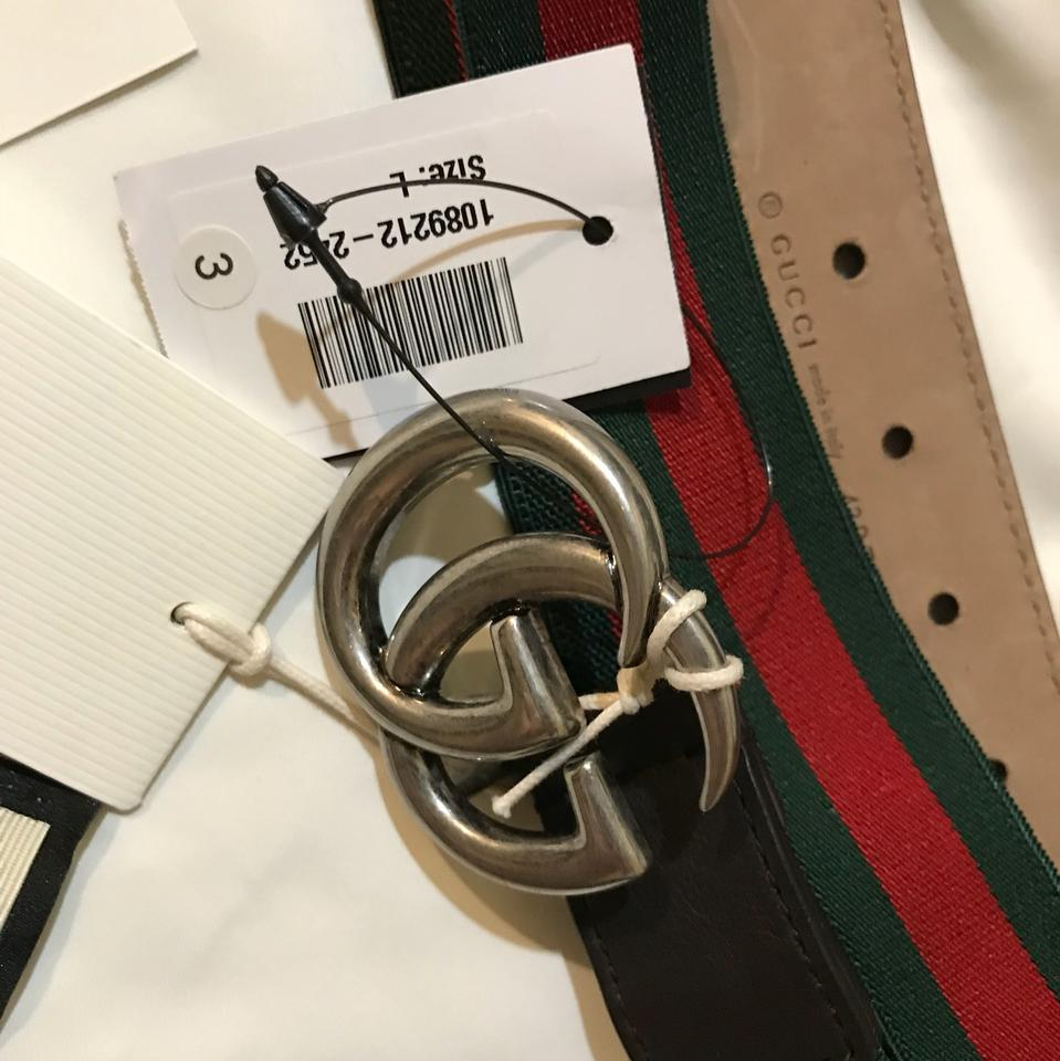 44bc0123205 Gucci Gucci kids Size L striped canvas and leather belt Image 7. 12345678
