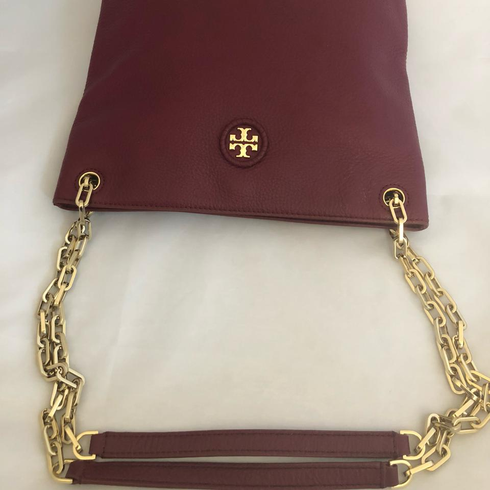 Whipstitch Logo Garnet Bag Burch Tory Cross Pebbled Leather Body Hobo Swingpack Imperial q1wAaRA