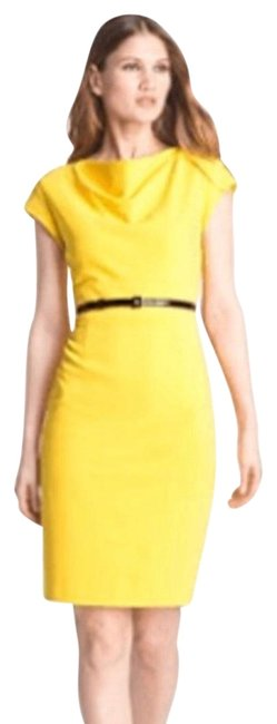 Preload https://img-static.tradesy.com/item/23855683/classiques-entier-yellow-perfectly-professional-mid-length-workoffice-dress-size-10-m-0-2-650-650.jpg