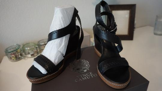 Vince Camuto Dark Brown Wedges Image 4