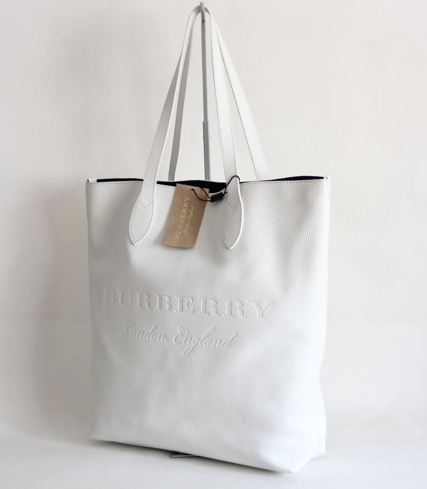 Burberry Remington Embossed White Leather Tote - Tradesy 7b17716519c02