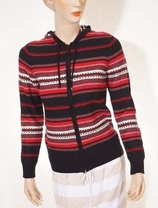 Ralph Lauren Womens Black Red Sweater