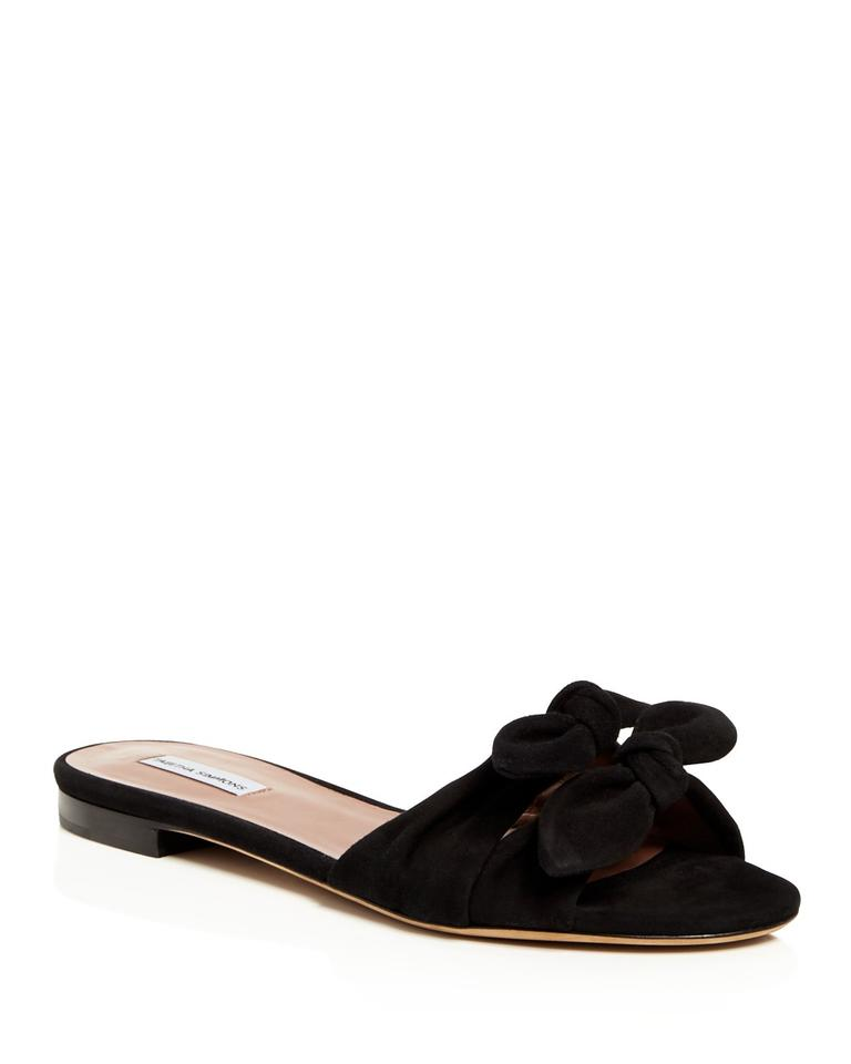 Tabitha Knotted Simmons Black Women's Cleo Knotted Tabitha Suede Slide Sandals 7d9be2