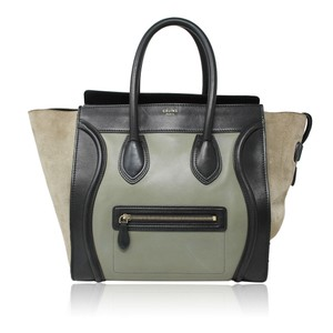 Céline Phantom Luggage Tote Tricolor Shoulder Bag