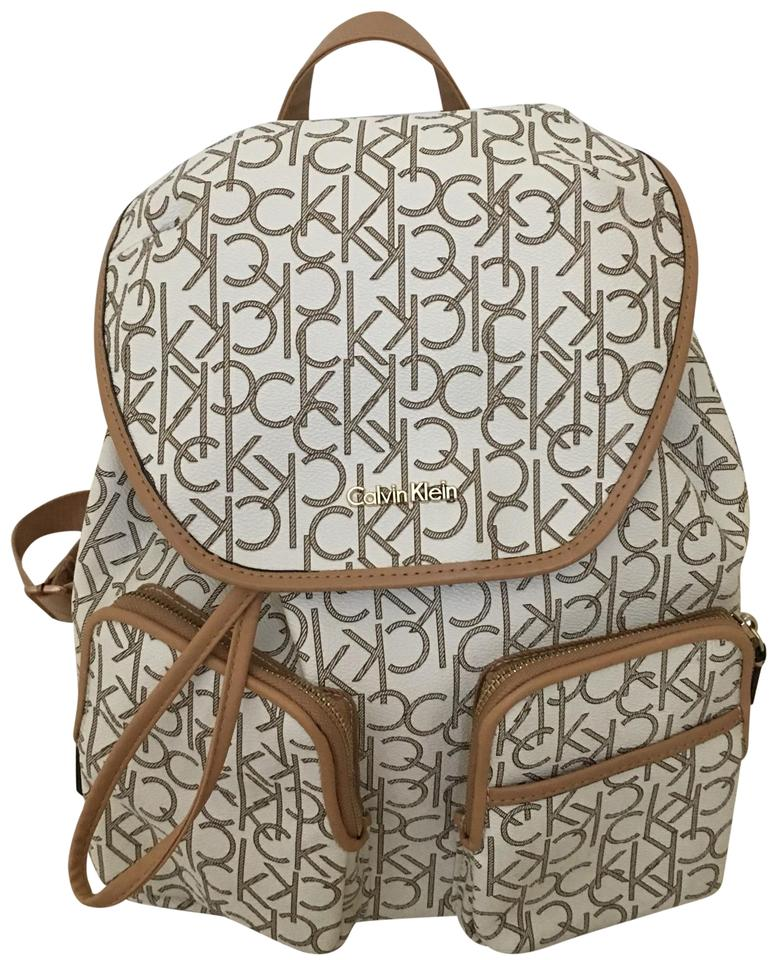 061f20ce42e Calvin Klein Ck Comfortably White Faux Leather. Backpack - Tradesy calvin  klein backpack white