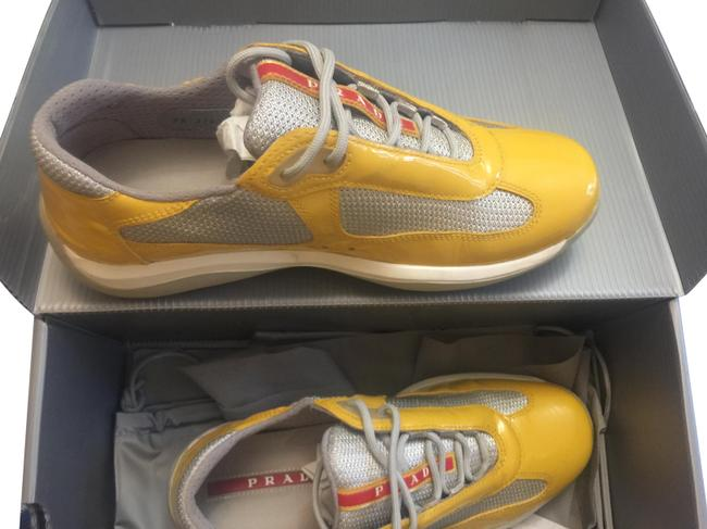 Item - Yellow / Mustard Patent Leather Sneakers Size EU 37.5 (Approx. US 7.5) Regular (M, B)
