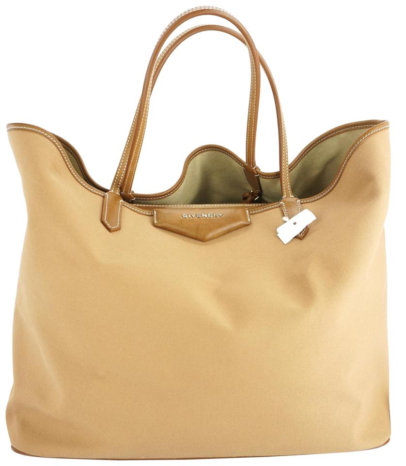 Givenchy Antigona Shopping Large W  Attached Pouch Brown Canvas Tote ... c545330ce6d37