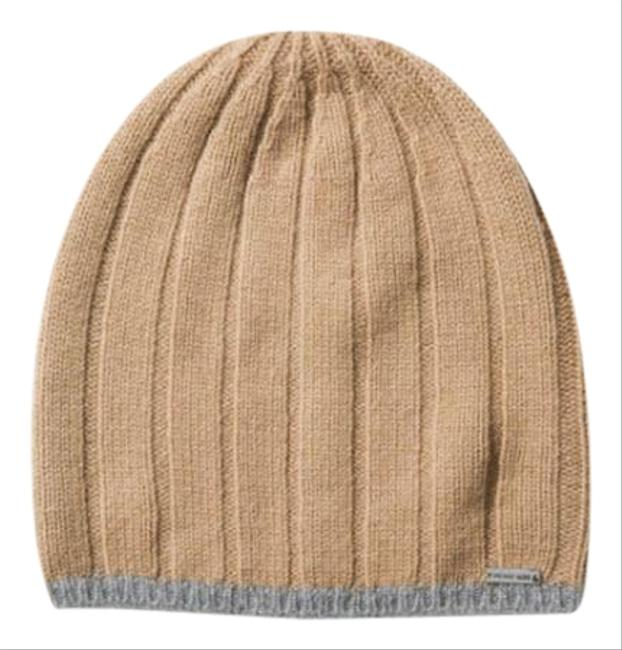 Michael Kors Natural Contrast-tipped Wool Beanie Hat Michael Kors Natural Contrast-tipped Wool Beanie Hat Image 1