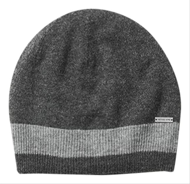 Item - Charcol 2 Pcs Contrast-tipped Wool Beanie Hat