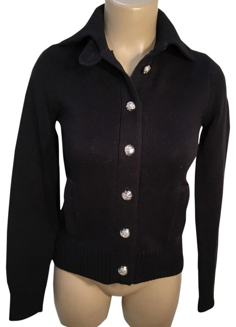 Lauren Ralph Lauren Cardigan Black Sweater Lauren Ralph Lauren Cardigan Black Sweater Image 1