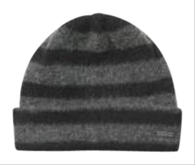 Item - Gray Heather Gray 2 Pcs Contrast-tipped Wool Beanie Hat