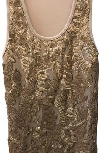 BJLJN Ibiza Fitted Top Beige w/ Gold sequins
