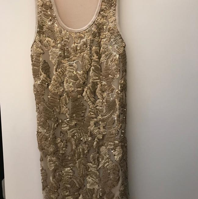 BJLJN Ibiza Fitted Top Beige w/ Gold sequins Image 1