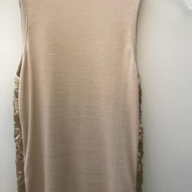 BJLJN Ibiza Fitted Top Beige w/ Gold sequins Image 2