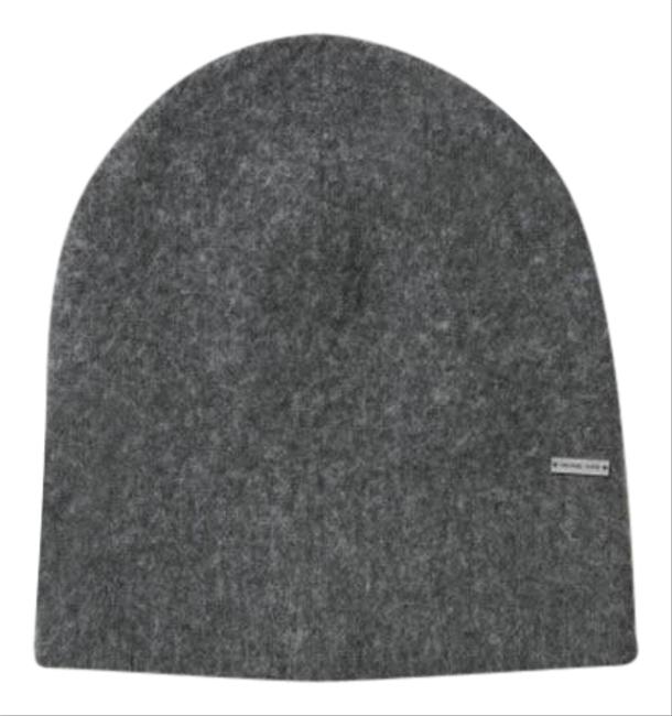 Item - Gray Contrast-tipped Wool Beanie Hat