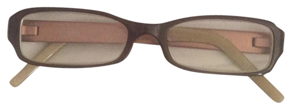 603344caf3e DKNY Light Brown and Gold Rose Reading Gladiator Frame Sunglasses ...