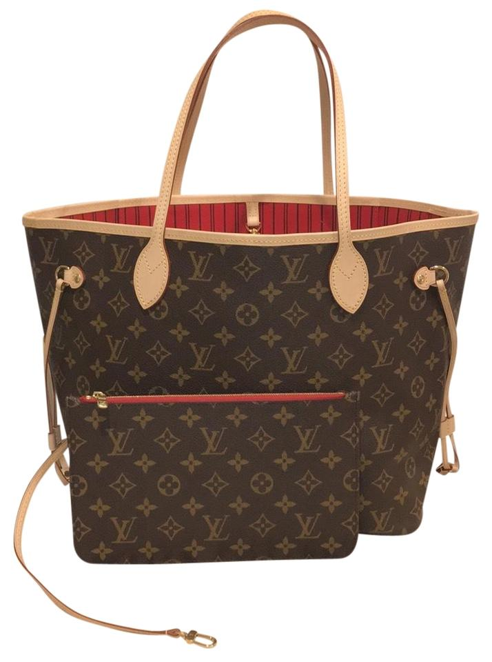 917f57e1612b Louis Vuitton Neverfull Mm Neverfull Neverfull Mm Mono Monogram Neverfull  Tote in Cerise Image 0 ...