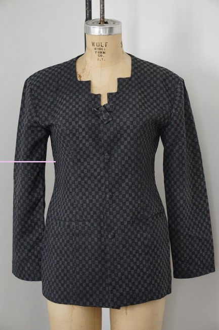 Xiao Studio Checkered Everyday Black, Gray Blazer Image 2