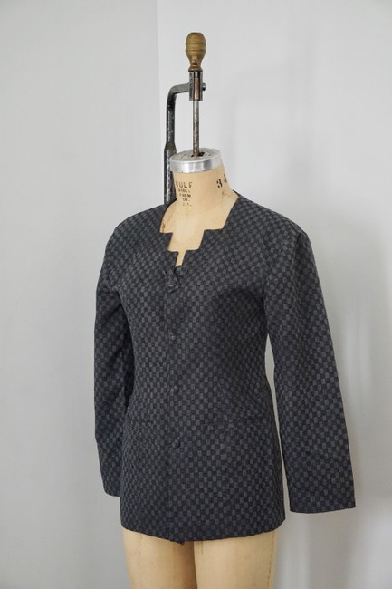 Xiao Studio Checkered Everyday Black, Gray Blazer Image 7