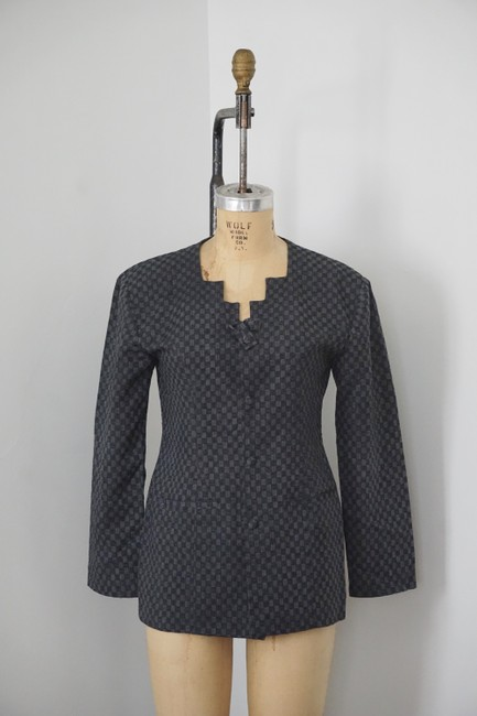 Xiao Studio Checkered Everyday Black, Gray Blazer Image 8