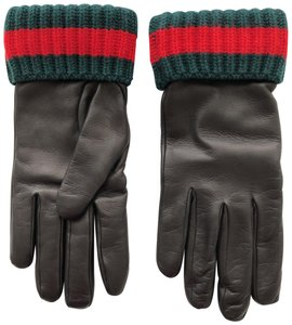 Gucci Gucci Cashmere and Lambskin Leather Gloves