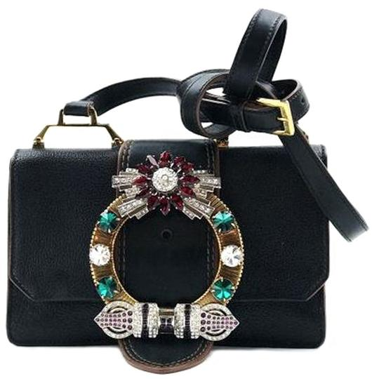 Preload https://img-static.tradesy.com/item/23856845/miu-miu-madras-crystal-embellished-black-leather-shoulder-bag-0-0-540-540.jpg