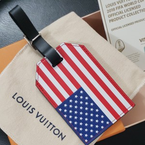 Louis Vuitton Auth Louis Vuitton Fifa 2018 Wolrd Cup Limited Edition USA Luggage Tag