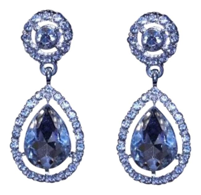 New Bling Cz High Quality Oval Shape Water Drop Luxury Bridal Bling Earrings New Bling Cz High Quality Oval Shape Water Drop Luxury Bridal Bling Earrings Image 1