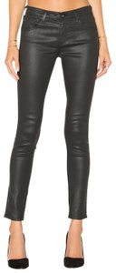 AG Adriano Goldschmied Faux Leather Skinny Jeans-Coated