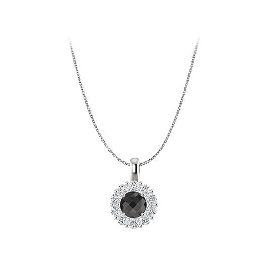 Preload https://img-static.tradesy.com/item/23857462/black-ultimate-onyx-cz-halo-pendant-in-sterling-silver-necklace-0-0-540-540.jpg