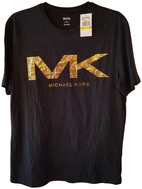 Item - Black and Gold T-shirt Tee Shirt Size 10 (M)
