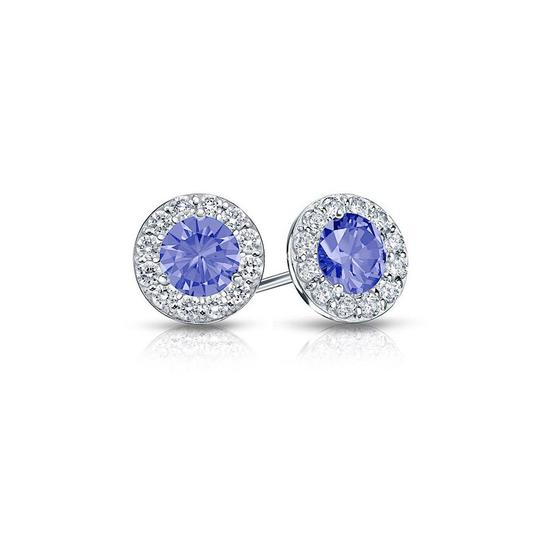 Preload https://img-static.tradesy.com/item/23857611/blue-created-tanzanite-and-cz-halo-stud-earrings-in-sterling-silver-150ct-necklace-0-0-540-540.jpg