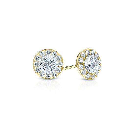 Preload https://img-static.tradesy.com/item/23857635/white-cubic-zirconia-halo-stud-earrings-in-18k-yellow-gold-over-sterling-sil-necklace-0-0-540-540.jpg