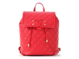 Chanel Filigree Quilted Ch.p0716.16 Gold Hardware Urban Spirit Backpack