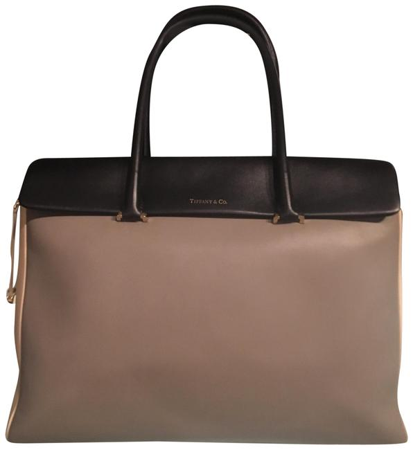 Item - Peyton Tote Grey Ivory Black Leather Satchel