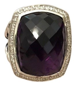 David Yurman David Yurman 20X15mm Amethyst Albion Diamond Ring, size 7
