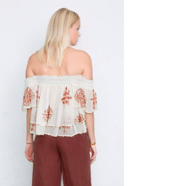 Chan Luu Off The Shoulder Viscose Embroidered Top Image 2