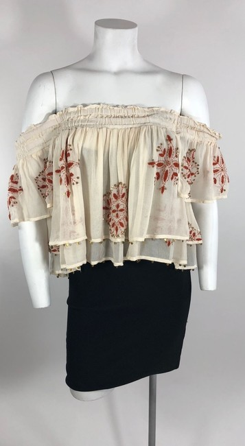 Chan Luu Off The Shoulder Viscose Embroidered Top Image 4