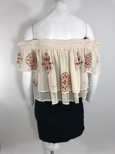Chan Luu Off The Shoulder Viscose Embroidered Top Image 5