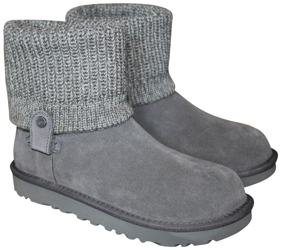 9a900af0af8 UGG Australia Gray Saela Suede Sweater Cuff Boots/Booties Size US 9 Regular  (M, B) 23% off retail