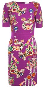MARY KATRANTZOU short dress Purple Wool on Tradesy