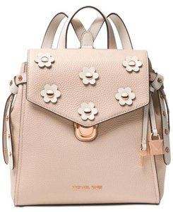 MICHAEL Michael Kors Bristol Small Pebble Leather Floral Applique Sof Pink/Cream Backpack