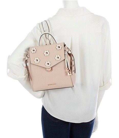 MICHAEL Michael Kors Bristol Small Pebble Leather Floral Applique Sof Pink/Cream Backpack Image 4